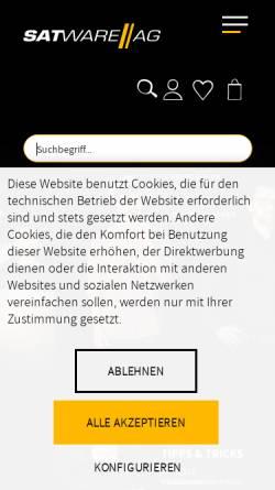 Vorschau der mobilen Webseite satware.com, satware AG