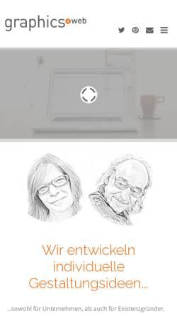 Vorschau der mobilen Webseite www.graphics4web.de, Dorothee und Jens Bächle - graphics4web