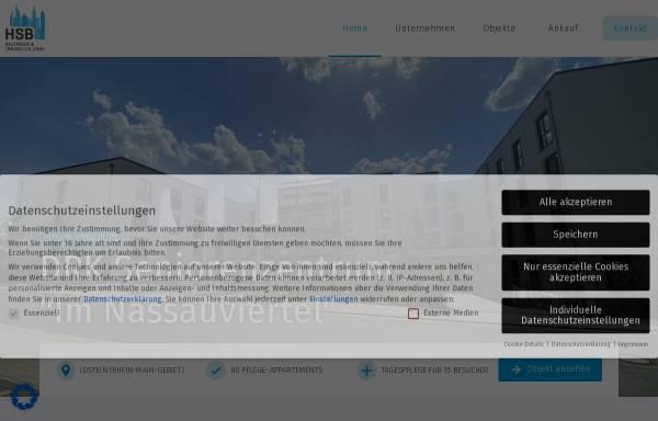 Vorschau von www.hsb-bautraeger.de, HSB Bauträger und Immobilien GmbH