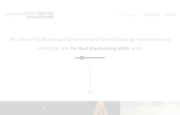 Vorschau von www.werbegemeinschaft-bad-marienberg.de, Werbegemeinschaft Bad Marienberg e.V.