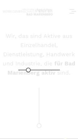 Vorschau der mobilen Webseite www.werbegemeinschaft-bad-marienberg.de, Werbegemeinschaft Bad Marienberg e.V.