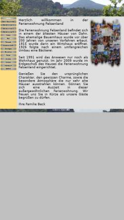 Vorschau der mobilen Webseite www.fewo-felsenland.de, Ferienwohnung Felsenland