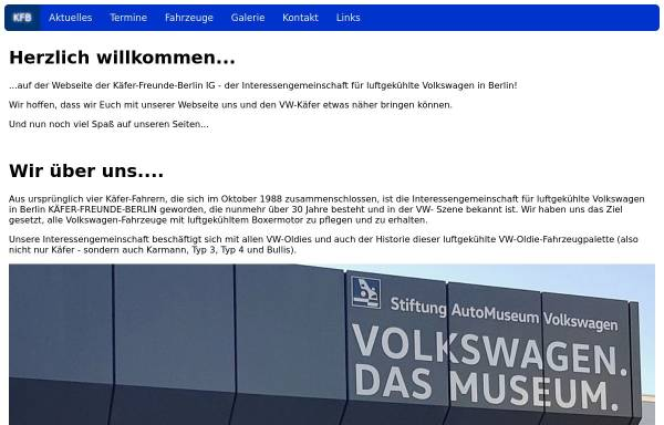Vorschau von www.kfb-ig.de, Käfer-Freunde Berlin