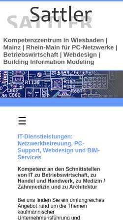 Vorschau der mobilen Webseite www.sattlernet.de, Sattler EDV-Services GmbH