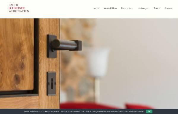 Vorschau von www.bader-schreinerwerkstaetten.de, Bader Schreinerwerkstätten