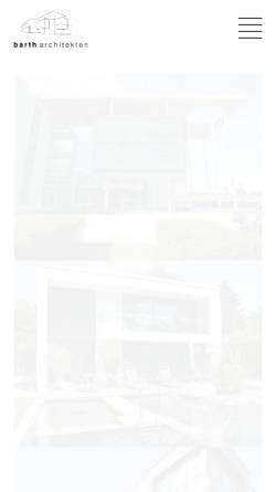 Vorschau der mobilen Webseite www.barth-architekten.de, Barth Architekten Gauting