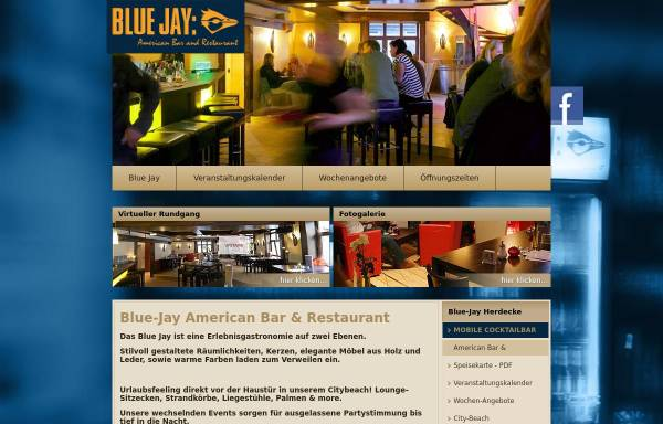 Vorschau von www.blue-jay.de, Blue Jay Gastronomie GmbH