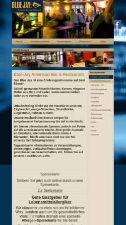 Vorschau der mobilen Webseite www.blue-jay.de, Blue Jay Gastronomie GmbH