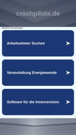 Vorschau der mobilen Webseite www.crashpilots.de, Crashpilots