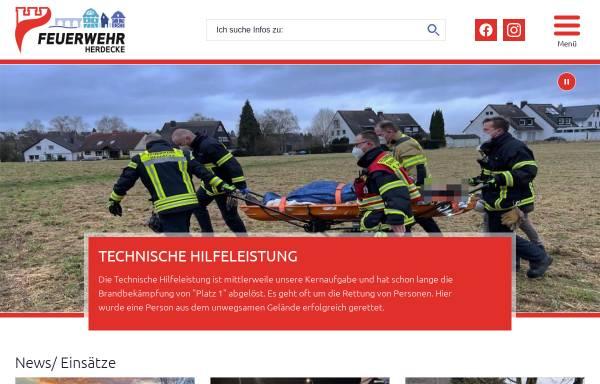 Vorschau von www.feuerwehr-herdecke.de, Freiwillige Feuerwehr Herdecke