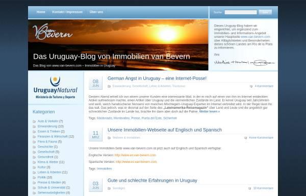 Vorschau von immobilienuruguay.com, Uruguay-Blog, van Bevern-Immobilien