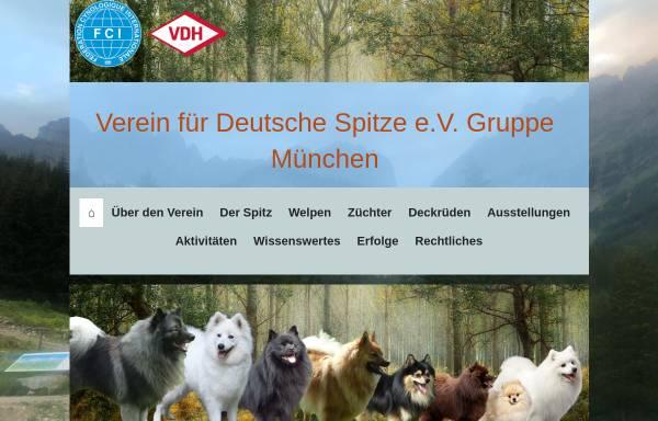 Vorschau von www.spitze-muenchen.de, Gruppe München im Verein für Deutsche Spitze e.V.