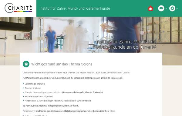 Vorschau von zahnmedizin.charite.de, Charité Universitätsmedizin Berlin - Institut für Zahn-, Mund- und Kieferheilkunde