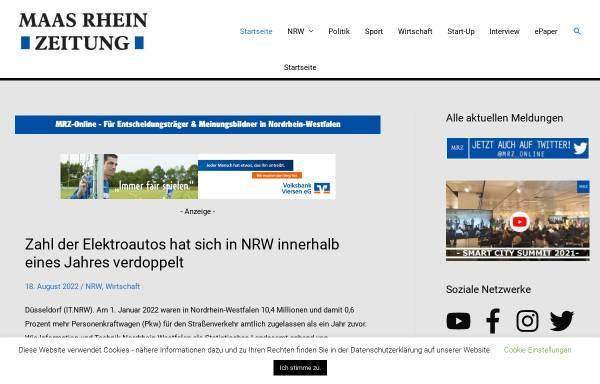 Vorschau von www.maas-rhein-zeitung.de, Maas Rhein Zeitung (MRZ)
