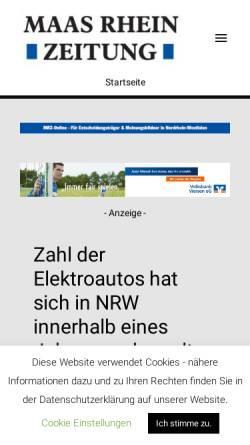 Vorschau der mobilen Webseite www.maas-rhein-zeitung.de, Maas Rhein Zeitung (MRZ)