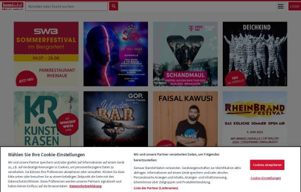 Vorschau von www.bonnticket.de, BonnTicket GmbH