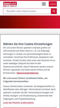 Vorschau der mobilen Webseite www.bonnticket.de, BonnTicket GmbH