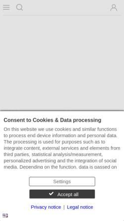 Vorschau der mobilen Webseite www.wn.de, Westfälische Nachrichten