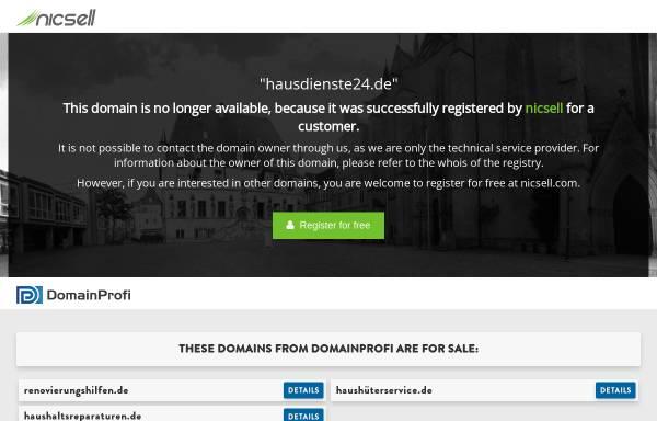 Vorschau von www.hausdienste24.de, Hausdienste 24 Michael Zahn