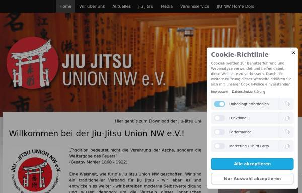 Vorschau von www.jju-nrw.de, Jiu-Jitsu Union Nordrhein-Westfalen e.V.
