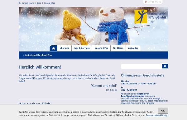 Vorschau von www.kita-ggmbh-trier.de, KiTa gGmbH Trier
