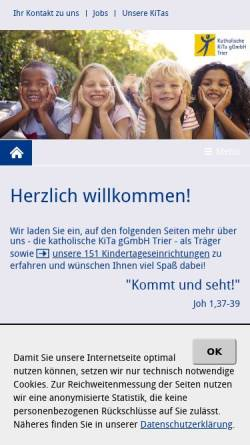 Vorschau der mobilen Webseite www.kita-ggmbh-trier.de, KiTa gGmbH Trier