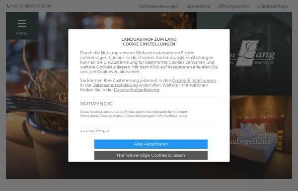 Vorschau von www.landgasthof-lang.de, Landgasthof
