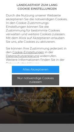 Vorschau der mobilen Webseite www.landgasthof-lang.de, Landgasthof