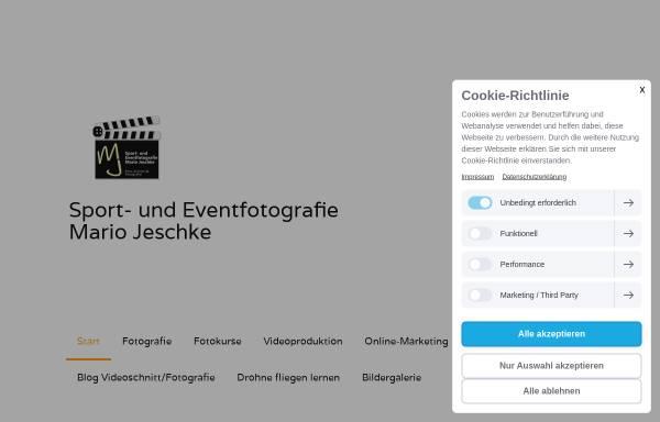 Vorschau von www.mariojeschke.de, Sport- und Event-Fotografie