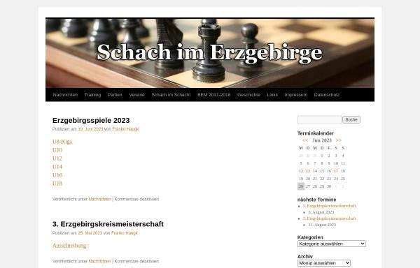 Vorschau von www.schach-im-erz.de, Schach im Erzgebirge