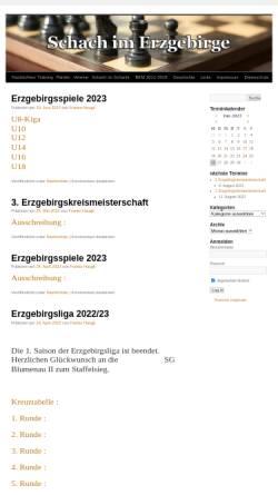 Vorschau der mobilen Webseite www.schach-im-erz.de, Schach im Erzgebirge