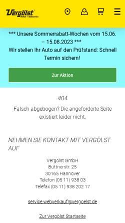 Vorschau der mobilen Webseite www.vergoelst.de, Abschleppdienst Brechtel