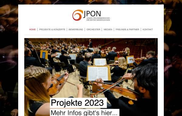 Vorschau von www.jpon.de, Hannover, Junges Philharmonisches Orchester Niedersachsen