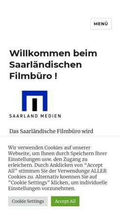 Vorschau der mobilen Webseite www.filmbuero-saar.de, Filmbüro Saar e.V.