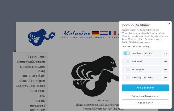 Vorschau von melusine-literatur.jimdo.com, Melusine Literarische Gesellschaft Saar-Lor-Lux-Elsass e.V.