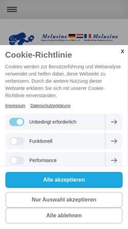 Vorschau der mobilen Webseite melusine-literatur.jimdo.com, Melusine Literarische Gesellschaft Saar-Lor-Lux-Elsass e.V.