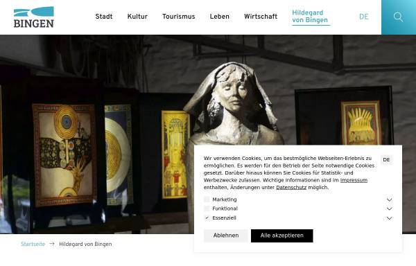 Vorschau von www.landderhildegard.de, Land der Hildegard
