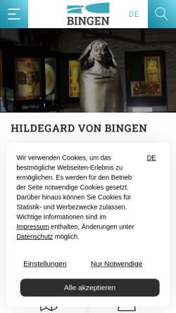 Vorschau der mobilen Webseite www.landderhildegard.de, Land der Hildegard