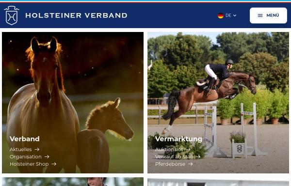 Vorschau von www.holsteiner-verband.de, Verband der Züchter des Holsteiner Pferdes