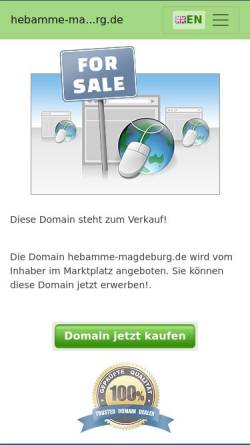 Vorschau der mobilen Webseite www.hebamme-magdeburg.de, Hebamme B. Hünecke