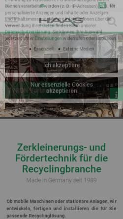 Vorschau der mobilen Webseite haas-recycling.de, HAAS Holzzerkleinerungs- und Fördertechnik GmbH