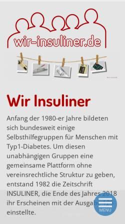 Vorschau der mobilen Webseite www.insuliner.de, Insuliner