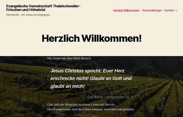 Vorschau von www.egth.de, Evangelische Gemeinschaft Thaleischweiler-Fröschen & Höheinöd