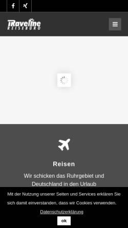 Vorschau der mobilen Webseite www.reisebuero-travelline.de, Reisebüro Travelline