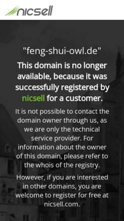 Vorschau der mobilen Webseite www.feng-shui-owl.de, Dipl.- Ing. Sven Christeleit, Klassisches Feng Shui und Geomantie