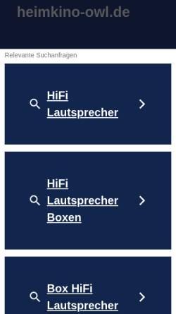 Vorschau der mobilen Webseite www.heimkino-owl.de, Heimkino OWL