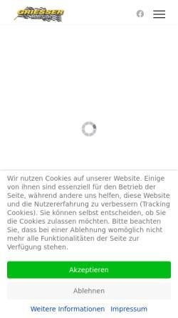 Vorschau der mobilen Webseite www.griessermotosport.de, Griesser Moto-Sport