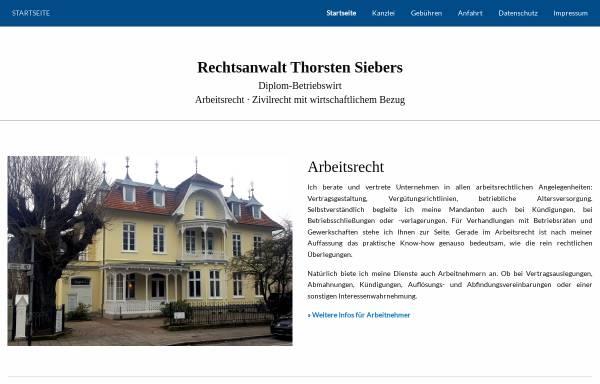 Vorschau von www.ra-siebers.de, Siebers Torsten