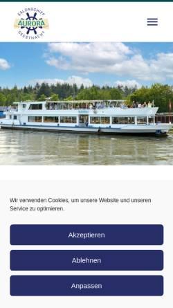 Vorschau der mobilen Webseite msaurora.de, Salonschiff Aurora