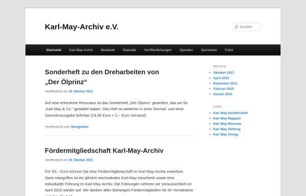 Vorschau von www.karl-may-archiv.de, Karl-May-Archiv e.V.
